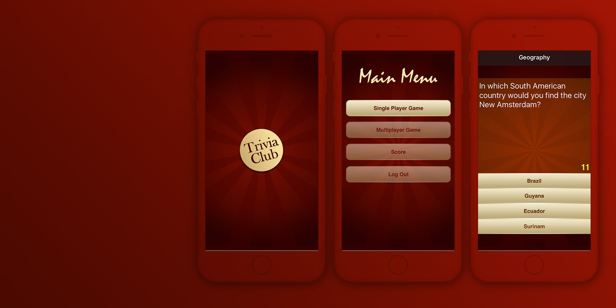 WinPhone, Android and iOS application Trivia Club