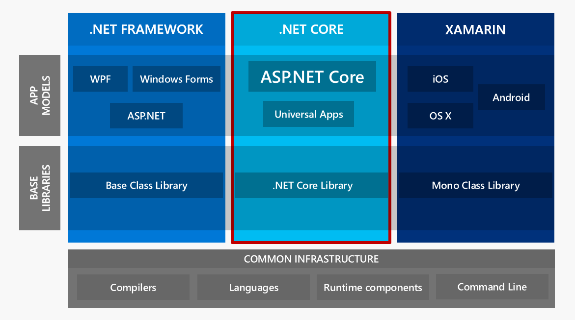 .NET Framework and .NET Core