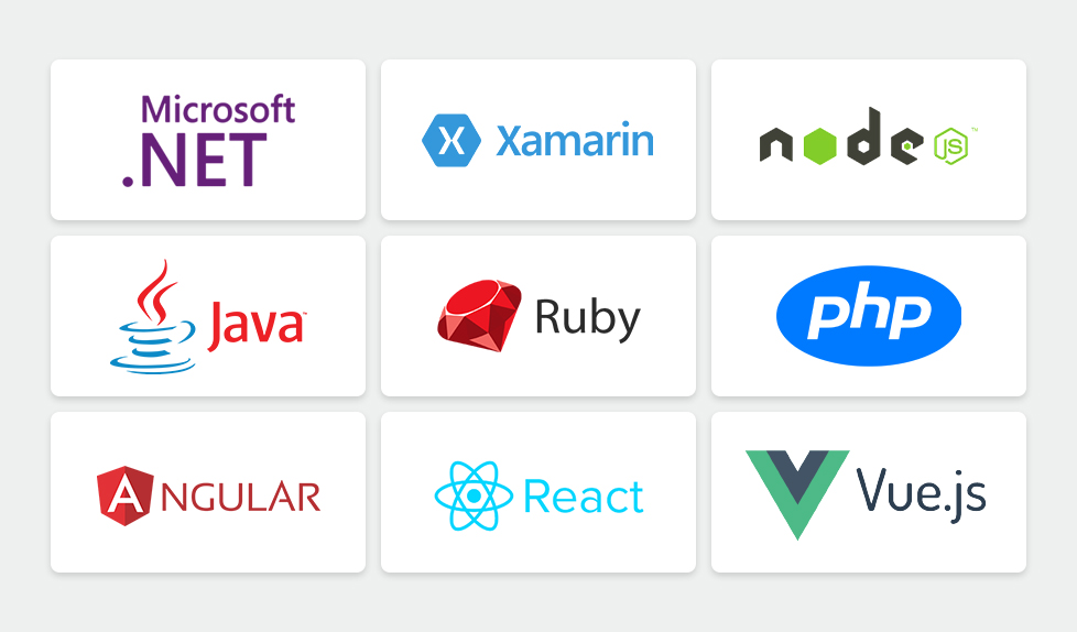 hire software developers in the technologies .NET, Xamarin, React, Angular